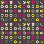 Seamless pattern with gear wheels — Stock Vector
