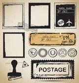 Stamps set vector — Stock Vector
