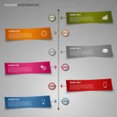 Tid radmall information grafisk färg randigt papper — Stockvektor