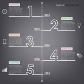 Time line info graphic number design template — Stock Vector
