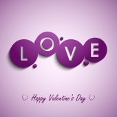 Valentines card with purple circles background — ストックベクタ