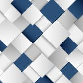 Abstract white and blue square background — Stock Vector