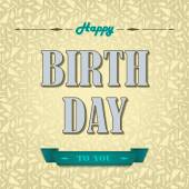 Happy birthday poster background — Stock Vector