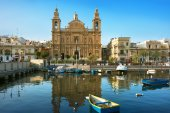 Parish Church in Msida — Stock Photo