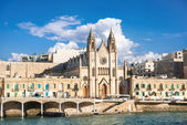 Parish Church of St. Julians on Malta — Stock Photo