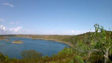 Pan Timelapse - Algarve Beliche dam landscape view (Portugal) — Stock Video