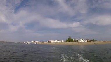 葡萄牙南部阿尔加维,河口福尔摩沙游戏中时光倒流湿地自然保护区景观. — 图库视频影像