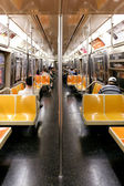 NEW YORK CITY - SEPTEMBER 01: Subway wagon on September 01, 2013 — Stock Photo