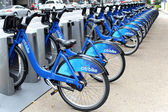 NEW YORK -  SEPTEMBER 02: Citi Bike docking station on September — Stock Photo