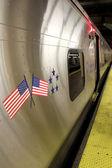 New York City - září 01: Vůz metra na 01 září 2013 — Stock fotografie