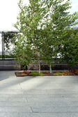 High Line statue. New York City. Elevated pedestrian Park — Stock Photo