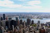 Vista panorâmica aérea de nova york — Fotografia Stock