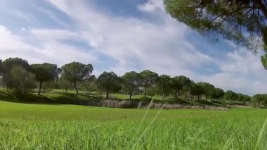 Algarve golf course scenery, famous golf and nature destination, Portugal. — Stock Video