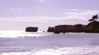 Algarve - Western Atlantic coast St. Eulalia Beach seascape — Vídeo de Stock