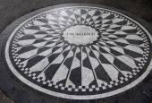 Imagine Mosaic, a tribute to sometime New York resident John Len — Stock Photo