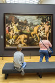 AMSTERDAM, NETHERLANDS - FEBRUARY 08: Visitor at Rijksmuseum — Stock Photo
