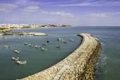 Albufeira fishermen Marina and beach, Algarve. — Stock Photo