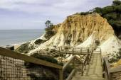 Algarve scenario footpatch cliff acess, at Falesia beach. — Stock Photo