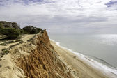 Western Algarve Cliffs Atlantic beach scenario. — Stock Photo