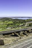 View from town of Monsaraz, on the right margin of the Guadiana — Stock Photo