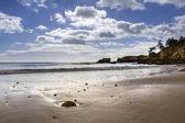 Western Algarve beach scenario of St.Eulalia — Stock Photo