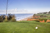 Algarve golf course seascape scenery, famous golf and nature destination, — Stock Photo