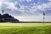 Paesaggio paesaggio marino di Algarve golf course, famoso golf e natura destinazione, — Foto Stock