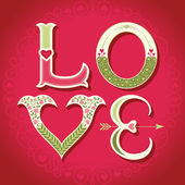 Valentines day background - love letters with hearts — Stock Vector