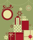 Jul gåvor bakgrund — Stockvektor