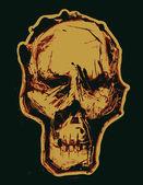 Skull. Monotypy style — Stockvektor