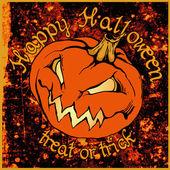 Halloween poster with pumpkin — Stock Vector