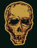 Skull. Monotypy style — Wektor stockowy