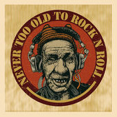Never too Old to Rock n Roll — Stockvector