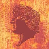Roman Emperor Constantine — Stockvector