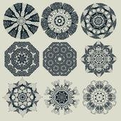 Set of decorative rosettes. — Stock Vector