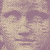 Sculptural portrait of a woman — Stock Vector