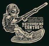 Design t-shirt with kitesurfer — Wektor stockowy