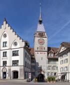 Zytturm clock tower in Zug city — Stock Photo