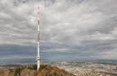 Telecommunication Tower on the Top of Mount Uetliberg — Stock Photo
