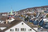 Zurich, view from Lindenhof — Foto Stock