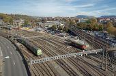 Railways in Bern — Stock Photo