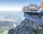 Building site on Mt. Pilatus — Stock Photo