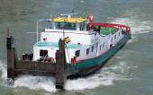Fogel Gryff towboat on the Rhine river — Stock Photo