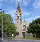 Protestant church in the city of Zug — Stock Photo