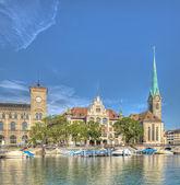 Zurich landmarks, HDR — Stock Photo