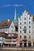 Buildings on the Limmatquai quay in Zurich — Stock Photo