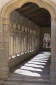 Romanesque columns  segovia, Spain — Stockfoto
