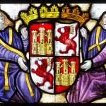 Stained glass Alcazar of Segovia.spain — Stock Photo #54026433