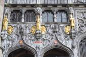 The portal of the Basilica of holy blod.BRUGES, BELGIUM — Stock Photo