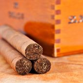 Genuine Cuban cigars — Stock Photo